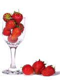Strawberries. In glass isolated against a white background Stock Image