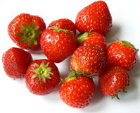 Strawberries. Red on white background Royalty Free Stock Photos