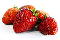 Strawberries. Some strawberries isolated from white stock photography