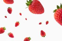 Strawberries in the air. Nstrawberries in the air, fresas rojas en el aire Royalty Free Stock Image