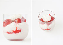 Strawberries with almond cream Royalty Free Stock Photos