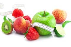 Free Strawberries,apple,lime,peach,kiwi  And Tape Stock Image - 19717741