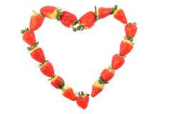 Strawberries as heart Royalty Free Stock Photo