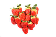 Strawberries as heart Royalty Free Stock Images