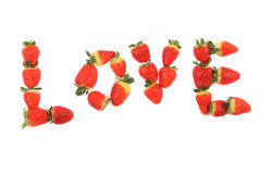 Strawberries as love Royalty Free Stock Image