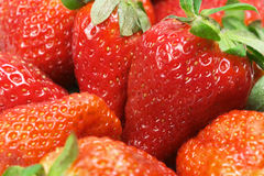 Strawberries background. Closeup of strawberries - food background royalty free stock photos