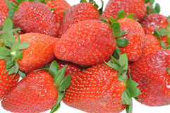 Strawberries background. Strawberries on white like background Royalty Free Stock Images