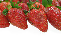 Strawberries background. Strawberries on white like background Royalty Free Stock Image