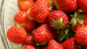 Strawberries background. Full HD with motorized slider. 1080p. stock video