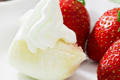 Strawberries, Banana and Cream Royalty Free Stock Photo