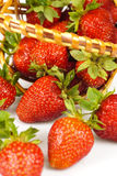 Strawberries in basket Stock Photos