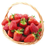 Strawberries in a basket . Stock Images