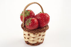 Strawberries basket Royalty Free Stock Image