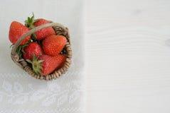 Strawberries in basket Stock Image