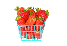 Strawberries in a basket Stock Photos