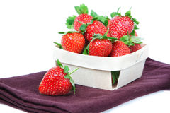 Strawberries in a basket. Royalty Free Stock Photography