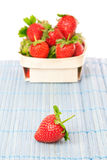 Strawberries in a basket. Royalty Free Stock Images
