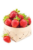 Strawberries in basket Stock Image