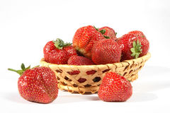 Strawberries in basket. Royalty Free Stock Photography