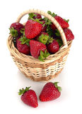Strawberries in a basket Stock Images