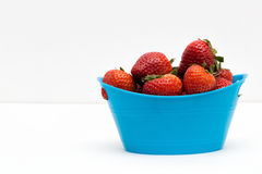 Strawberries in the Basket. A bunch of strawberries inside basket Stock Photo