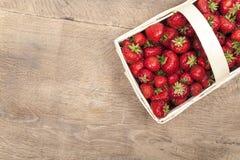 Strawberries in basket Stock Photo