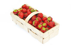 Strawberries. In a basket. Delicious seasonal fruit Royalty Free Stock Images