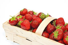 Strawberries. In a basket. Delicious seasonal fruit Stock Photo