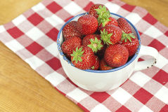 Strawberries. In a basket. Delicious seasonal fruit Stock Photography