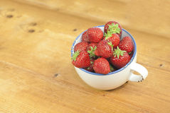 Strawberries. In a basket. Delicious seasonal fruit Royalty Free Stock Image