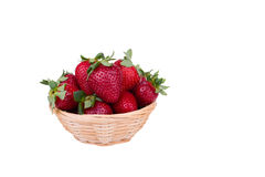 Strawberries in a basket. Fresh ripe strawberries in a basket Royalty Free Stock Image