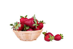 Strawberries in a basket. Fresh ripe strawberries in a basket Stock Image