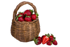 Strawberries in a basket. Fresh ripened strawberries in a basket Stock Photo