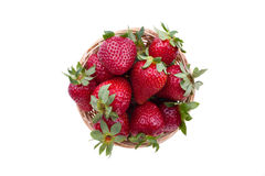 Strawberries in a basket. Fresh ripened strawberries in a basket Stock Images