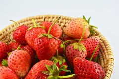 Strawberries Basket Stock Photo