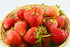 Strawberries Basket Stock Image