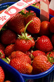 Strawberries in basket Royalty Free Stock Image