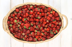 Strawberries in basket Royalty Free Stock Photography