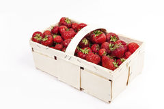 Strawberries in basket Royalty Free Stock Photos