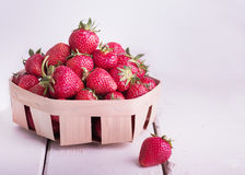 Strawberries in a basket. Royalty Free Stock Image