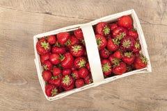 Strawberries in basket Royalty Free Stock Image