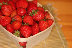 Strawberries in a Basket-1 Royalty Free Stock Photo