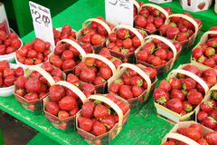 Strawberries in baskets Royalty Free Stock Photos