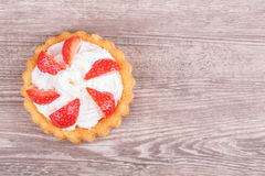 Strawberries in baskets biscuit Royalty Free Stock Images