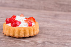 Strawberries in baskets biscuit Stock Images