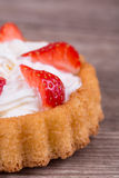 Strawberries in baskets biscuit Royalty Free Stock Photo
