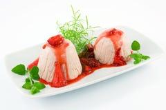 Strawberries bavarian, mousse Stock Image