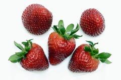 Strawberries. Beautiful strawberries isolates on white stock image