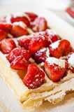 Strawberries belgian waffle Stock Photography