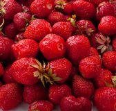 Strawberries. Berries of a ripe strawberry close-up Royalty Free Stock Photos